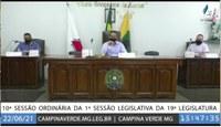 10ª SESSÃO ORDINÁRIA DA 1ª SESSÃO LEGISLATIVA DA 19ª LEGISLATURA