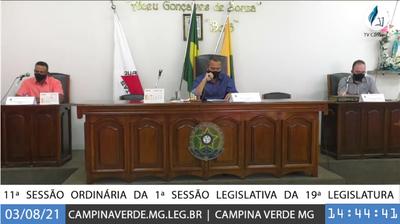 11ª SESSÃO ORDINÁRIA DA 1ª SESSÃO LEGISLATIVA DA 19ª LEGISLATURA