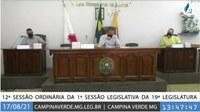 12ª SESSÃO ORDINÁRIA DA 1ª SESSÃO LEGISLATIVA DA 19ª LEGISLATURA