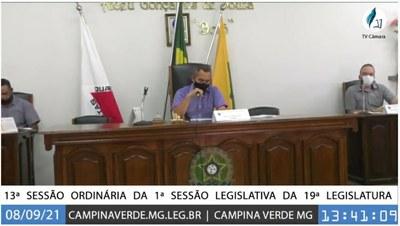 13ª SESSÃO Ordinária DA 1ª SESSÃO LEGISLATIVA DA 19ª LEGISLATURA