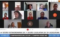 6ª SESSÃO EXTRAORDINÁRIA
