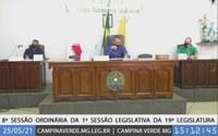 8ª SESSÃO ORDINÁRIA DA 1ª SESSÃO LEGISLATIVA DA 19ª LEGISLATURA