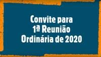 Convite para a 1ª Reunião Ordinária do 4º Período Legislativo da 18ª Legislatura.