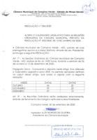 Resolução 006/2020 - Novo Calendário Legislativo