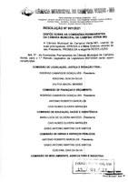 RESOLUÇÃO Nº 001/2021  DISPÕE SOBRE AS COMISSÕES PERMANENTES DA CÂMARA MUNICIPAL DE CAMPINA VERDE MG
